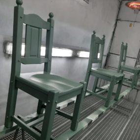spuitwerk antieke stoelen